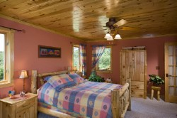 Log Home By Golden Eagle Log and Timber Homes - golden eagle log logs cabin home homes house houses rustic knotty pine custom design designs designer floor plan plans kit kits building luxury built builder complete package packages painted drywall wallboard plaster accents wood sealing log furniture mauve pink girls bedroom