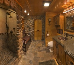 Log Home By Golden Eagle Log and Timber Homes - golden eagle log logs cabin home homes house houses rustic knotty pine custom design designs designer floor plan plans kit kits building luxury built builder complete package packages ultimate bathroom with stone rockwood granite design ideas complete package one stop shopping copper sink