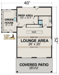 Log Home By Golden Eagle Log and Timber Homes - pool pub floor plan