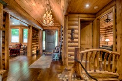 Log Home By Golden Eagle Log and Timber Homes - golden eagle log logs cabin home homes house houses rustic knotty pine custom design designs designer floor plan plans kit kits building luxury built builder complete package packages rustic floor plan customized pine vaulted ceilings entrance door chandelier foyer ideas peeled wood floor knotty layout