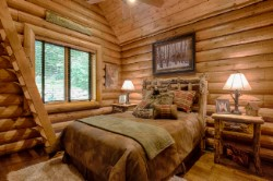 Log Home By Golden Eagle Log and Timber Homes - golden eagle log logs cabin home homes house houses rustic knotty pine custom design designs designer floor plan plans kit kits building luxury built builder complete package packages bedroom pine ceiling rustic cathedral ladder loft custom interior