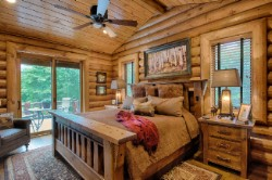 Log Home By Golden Eagle Log and Timber Homes - golden eagle log logs cabin home homes house houses rustic knotty pine custom design designs designer floor plan plans kit kits building luxury built builder complete package packages bedroom master patio door to deck rustic knotty pine cathedral ceiling vaulted luxury custom built floor plans