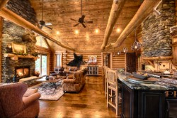 Log Home By Golden Eagle Log and Timber Homes - golden eagle log logs cabin home homes house houses rustic knotty pine custom design designs designer floor plan plans kit kits building luxury built builder complete package packages fireplace vaulted ceiling cathedral granite countertops interior design great room beams kitchen custom decorated high tall mantel