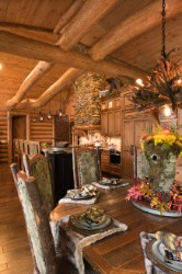 Log Home By Golden Eagle Log and Timber Homes - golden eagle log logs cabin home homes house houses rustic knotty pine custom design designs designer floor plan plans kit kits building luxury built builder complete package packages interior custom design high quality exposed beams kitchen cabinets dining room ceiling tie logs cathedral vaulted