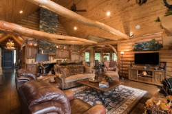 Log Home By Golden Eagle Log and Timber Homes - golden eagle log logs cabin home homes house houses rustic knotty pine custom design designs designer floor plan plans kit kits building luxury built builder complete package packages pine ceiling exposed beam great room kitchen stone round vaulted/cathedral rustic quality design open concept floor plan