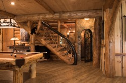 Log Home By Golden Eagle Log and Timber Homes - golden eagle log logs cabin home homes house houses rustic knotty pine custom design designs designer floor plan plans kit kits building luxury built builder complete package packages decorated curved exposed beams daylight basement walkout rec room man cave heavy trim luxury knotty pine rustic ideas open floor plan cottage stairway post exposed beams decorative ideas stairway stone