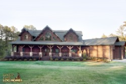 Log Home By Golden Eagle Log and Timber Homes - fromn view of home