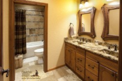 Log Home By Golden Eagle Log and Timber Homes - bath room