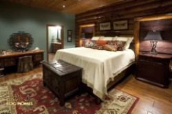 Log Home By Golden Eagle Log and Timber Homes - master bedroom view 2