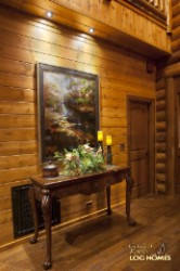 Log Home By Golden Eagle Log and Timber Homes - foyer area
