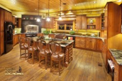 Log Home By Golden Eagle Log and Timber Homes - kitchen prep area   view 2