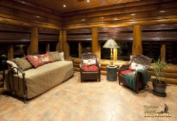Log Home By Golden Eagle Log and Timber Homes - 4 season porch