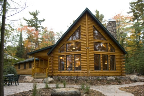 Modified Northern Eagle 1906AL Log Homes Photo Album