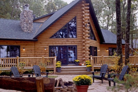 Custom Eagle Prow V 1842AL Log Homes Photo Album