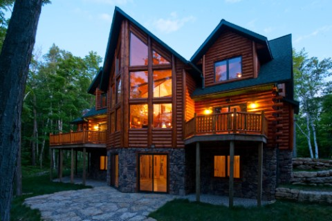 Custom Lodge 2838AL Log Homes Photo Album