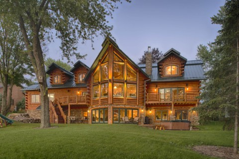 Lakehouse 4166AL Log Homes Photo Album