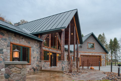 Custom Hybrid 2 Log Homes Photo Album