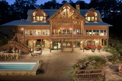 Texas Timber Frame / Log Hybrid Log Homes Photo Album
