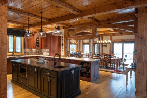 Custom Northern Exposed Timber Beam Home Log Homes Photo Album