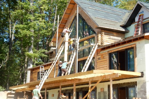 Customer Submitted - Construction Photos Log Homes Photo Album