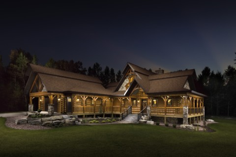Custom Log And Timber Home 2124AL Log Homes Photo Album