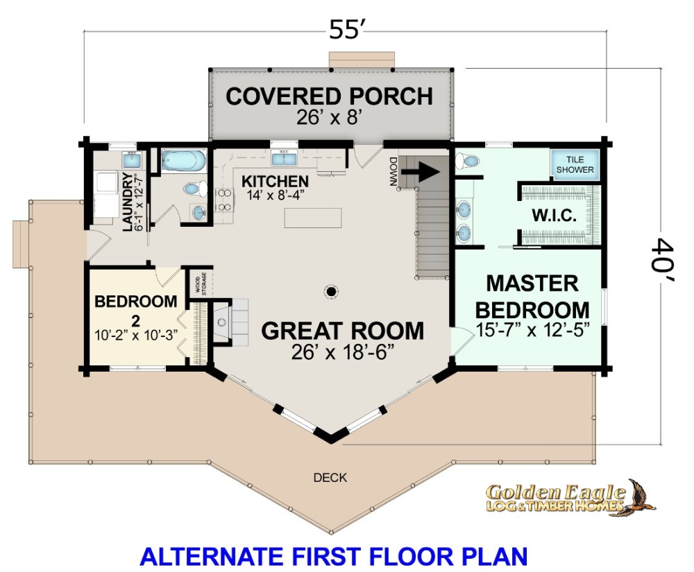 Alternate First Floor Plan