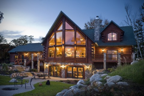 Lakehouse 3352AL Log Homes Photo Album