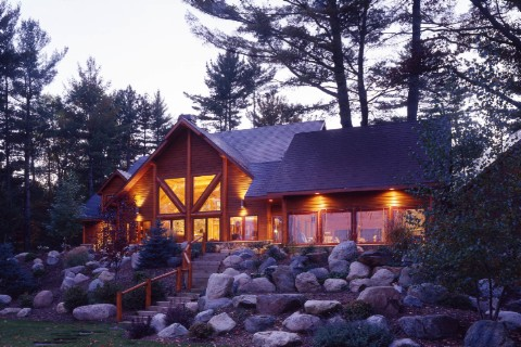 Minocqua Custom Hybrid Log Homes Photo Album