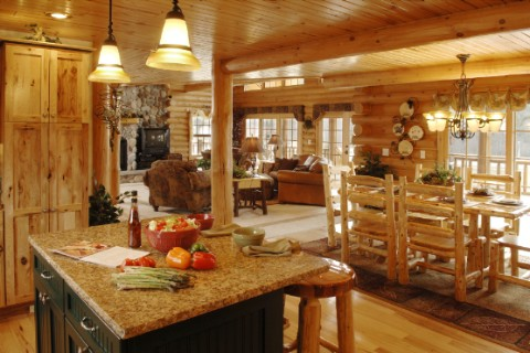 Custom Double Eagle Deluxe 2668AL Log Homes Photo Album