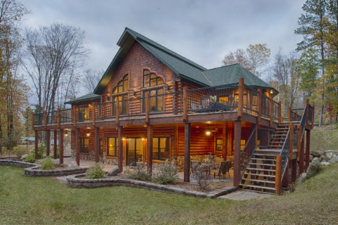 Custom Hybrid Timber Frame - North Carolina 1861AR Log Homes Photo Album